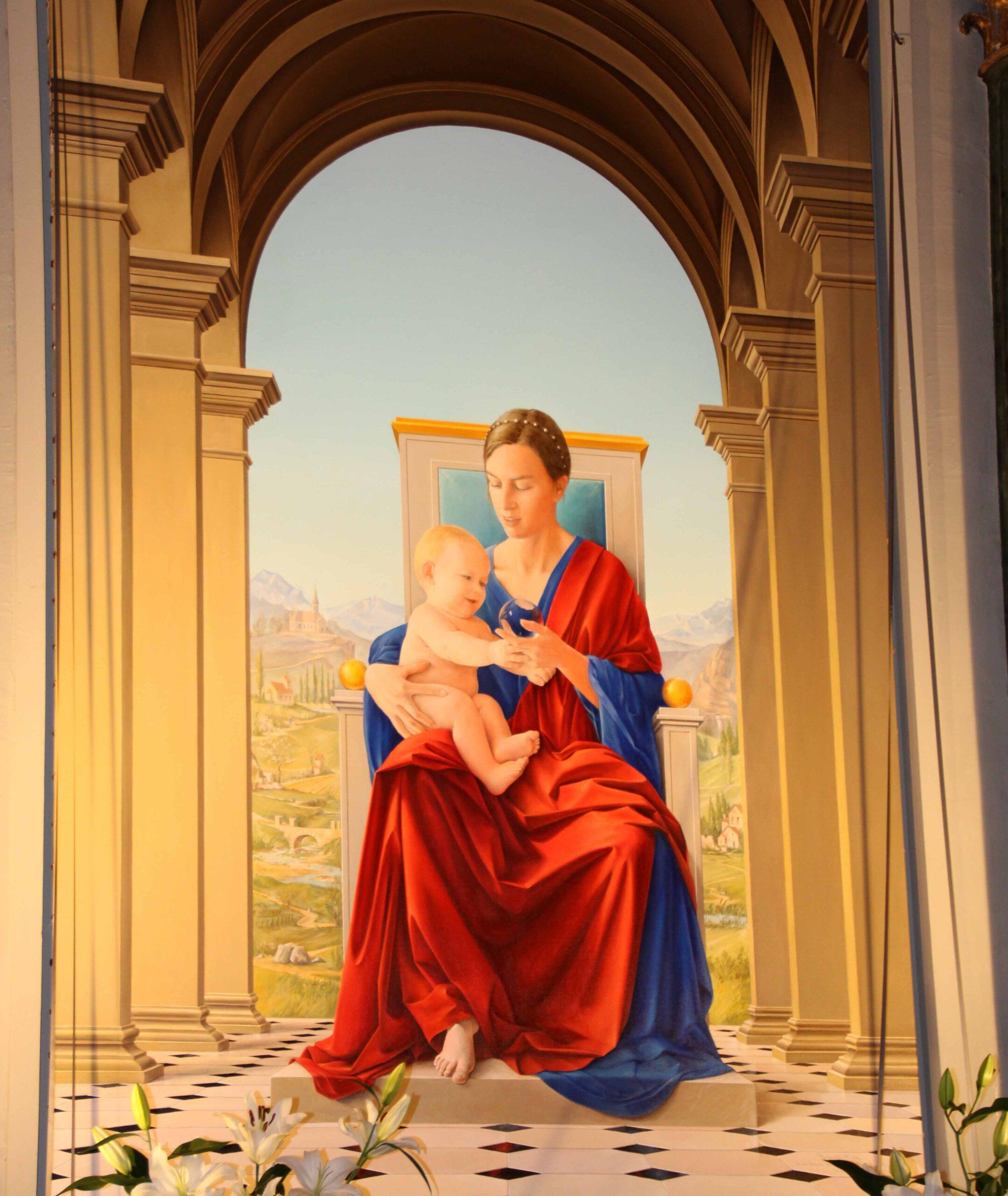 """Inauguration de """"La Vierge au pied nu"""""""