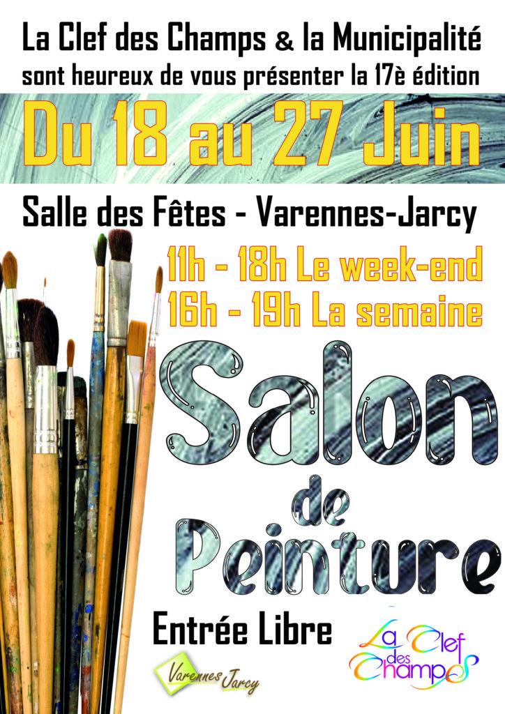 Salon de Peinture du 18 au 27 juin, salle des fêtes de Varennes-Jarcy. Entrée libre.