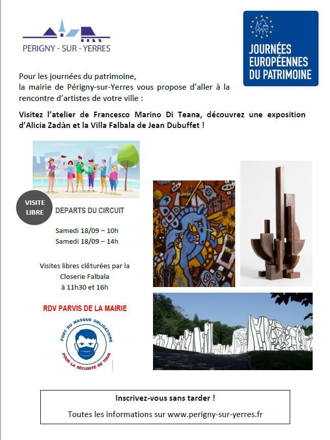 Journées Européennes du Patrimoine – Périgny village d'artistes